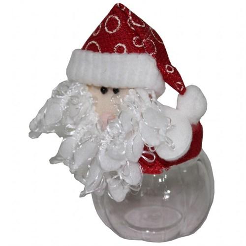 İp Sakallı Noel Baba Plastik Yılbaşı Hediye Kutusu