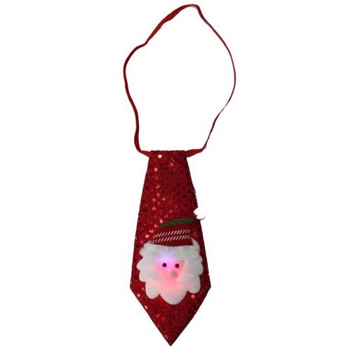 Işıklı Yanıp Söner Noel Baba Temalı Kravat