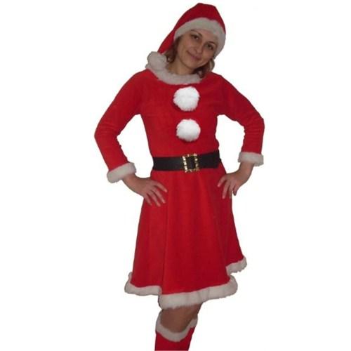 Polar Yetişkin Uzun Kollu Noel Anne Kıyafeti M Beden