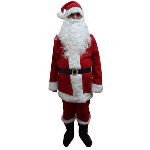 Lüx Noel Baba Kostümü Polar L Beden