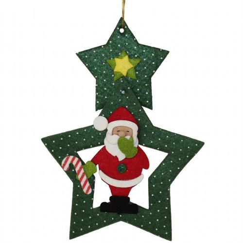 Yıldız Şekilli Noel Baba Keçe Süs