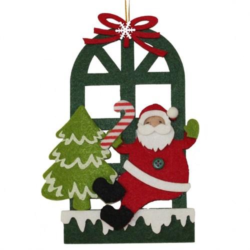 Kapı Görünümlü Noel Baba Keçe Süsü