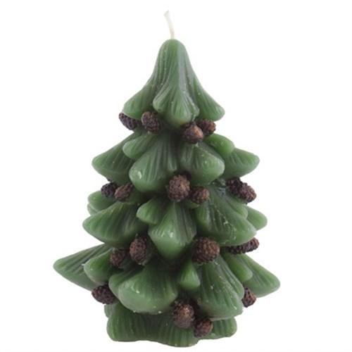 Kozalaklı Yeşil Yılbaşı Çam Ağacı Şekilli Mum