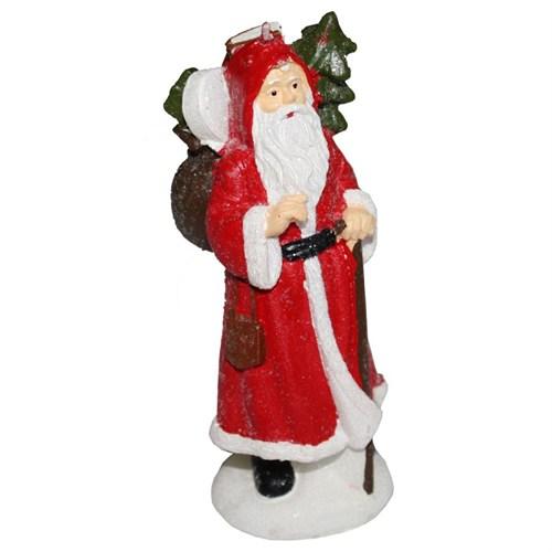 Kırmızı Pelerinli Noel Baba Mum