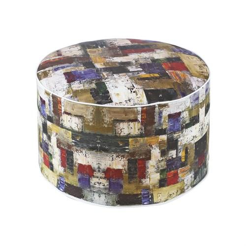 Dekorjinal Moroccan Stil Padişah Yastığı - Köşe Puf Mor48
