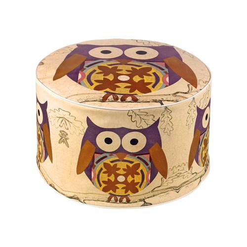 Dekorjinal Moroccan Stil Padişah Yastığı - Köşe Puf Mor50