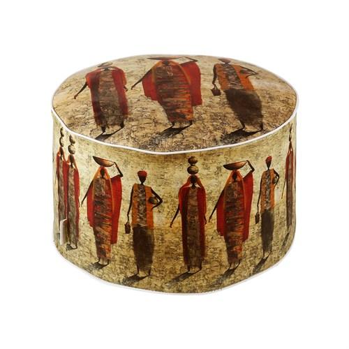 Dekorjinal Moroccan Stil Padişah Yastığı - Köşe Puf Mor70