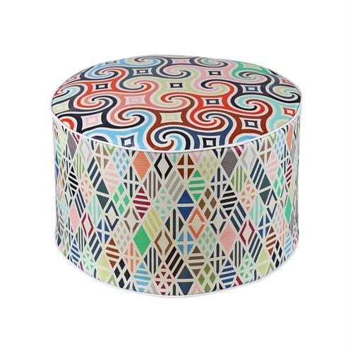 Dekorjinal Moroccan Stil Padişah Yastığı - Köşe Puf Mor72