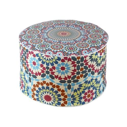 Dekorjinal Moroccan Stil Padişah Yastığı - Köşe Puf Mor73