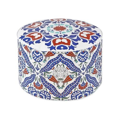 Dekorjinal Moroccan Stil Padişah Yastığı - Köşe Puf Mor75