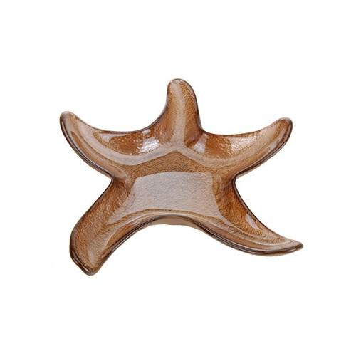 Altıncı Cadde Deniz Yıldızı Tabak Kahverengi 20,5Cm