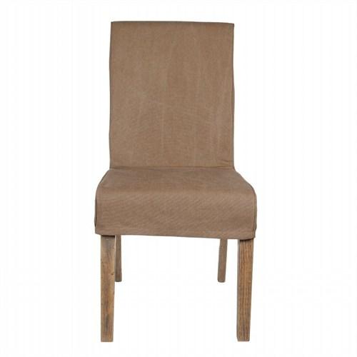 Altıncı Cadde Kahverengi Kumaş Kaplama Sandalye