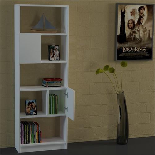 Dekorister Amitola Kitaplık Beyaz