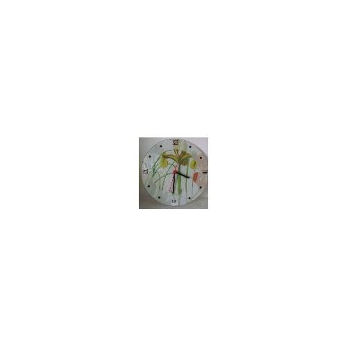 Bosphorus Saat Cam Duvar Tipi Zambak Çiçeği 30x0,4 Cm