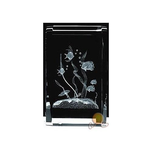 Üç Boyutlu Kristal Cam Akvaryum Figürü