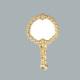 Tahtakale Toptancısı Ayna Çiçekli Metal Altın (10 Adet)