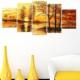 Tictac Design 5 Parçalı Kanvas Tablo Manzara