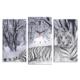 Decostil Bengal Kaplanı 3 Parça Kanvas Saat