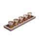 Art Dekor Kahve Beşli Mumluk