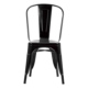 Şaziye Metal Tolix Kolsuz Sandalye- Siyah