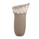 Mikasa Moor Gri Beyaz Etekli Vazo