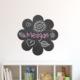 Dekorjinal Çiçek Yazılabilir Yaz Sil Sticker YS37