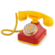 Anna Bell Sarı Kırmızı Klasik Tuşlu Telefon