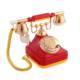 Anna Bell Sarı Kırmızı Klasik Çevirmeli Telefon