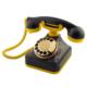Anna Bell Sarı Lacivert Klasik Çevirmeli Telefon