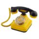 Anna Bell Sarı Lacivert Klasik Tuşlu Telefon
