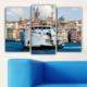 Decostil Galata 3 Parça 81x50 Kanvas Tablo