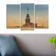 Decostil Kız Kulesi 3 Parça 81x50 Kanvas Tablo