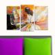 Decostil Piyano Çalan Kız 3 Parça 81x50 Kanvas Tablo