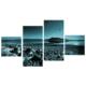 Tictac Design 4 Parça Kanvas Tablo Manzara