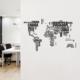 Besta Dünya Haritası Duvar Sticker