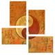 Tictac Design Denge Sembolü 4 Parça Kanvas Tablo 9