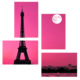 Tictac Design Eyfel Kulesi 4 Parça Kanvas Tablo 6