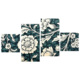 Tictac Design 4 Parça Kanvas Tablo Çiçekler