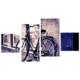 Tictac Design 4 Parça Kanvas Tablo Bisiklet