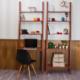 Colors Home Merdiven Kitaplık & Masa Seti - Kiraz
