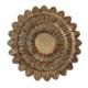 Casa di Mona Altın Eskitme Ahşap Dekoratif Ayna CDM00081