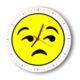 Smiley Concept Üzgün Emoji Duvar Saati