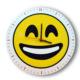 Smiley Concept Kahkaha Emoji Duvar Saati
