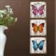 M3Decorium Mdf Renkli Kelebekler Tablo Duvar Saati