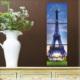 M3Decorium Mdf Paris Manzaralı Tablo Duvar Saati