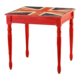 Kozza Home Bristol Masa 70x70 cm Kırmızı Hl/Gbr Kırmızı Eskitme