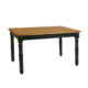 Woodenbend Tiffany Siyah Eskitilmiş Masa