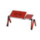 Mouse Padli Soğutuculu Alüminyum Laptop Sehpası Masası Kırmızı