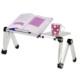 Mouse Padli Soğutuculu Alüminyum Laptop Sehpası Masası Gri