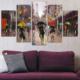 Casa De Arte Eyfel 5 Parça Kanvas Tablo